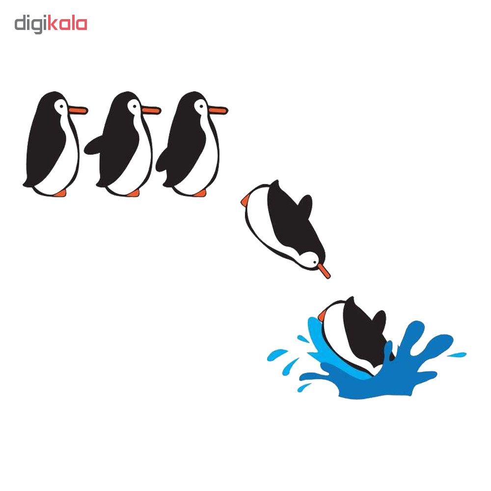 استیکر فراگراف کلید پریز FG طرح پنگوئن شیرجه زن بسته دو عددی
