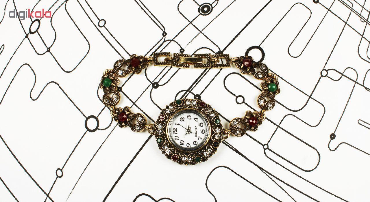 ساعت مچی عقربه ای زنانه طرح سنتی 02