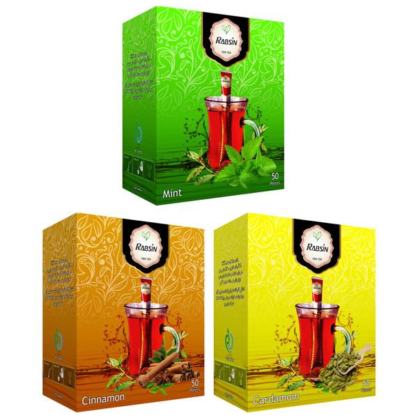 چای طعم دار رابسین بسته 3 عددی