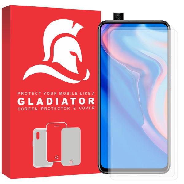 محافظ صفحه نمایش گلادیاتور مدل GLH2000 مناسب برای گوشی موبایل هوآوی Y9 Prime بسته دو عددی