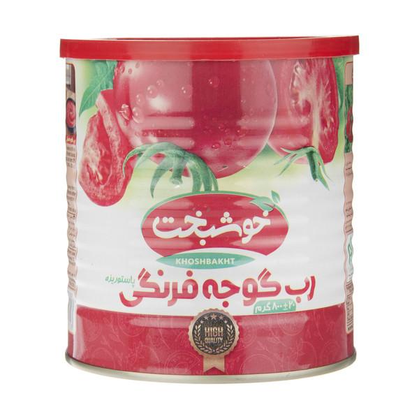 رب گوجه فرنگی خوشبخت مقدار 800 گرم