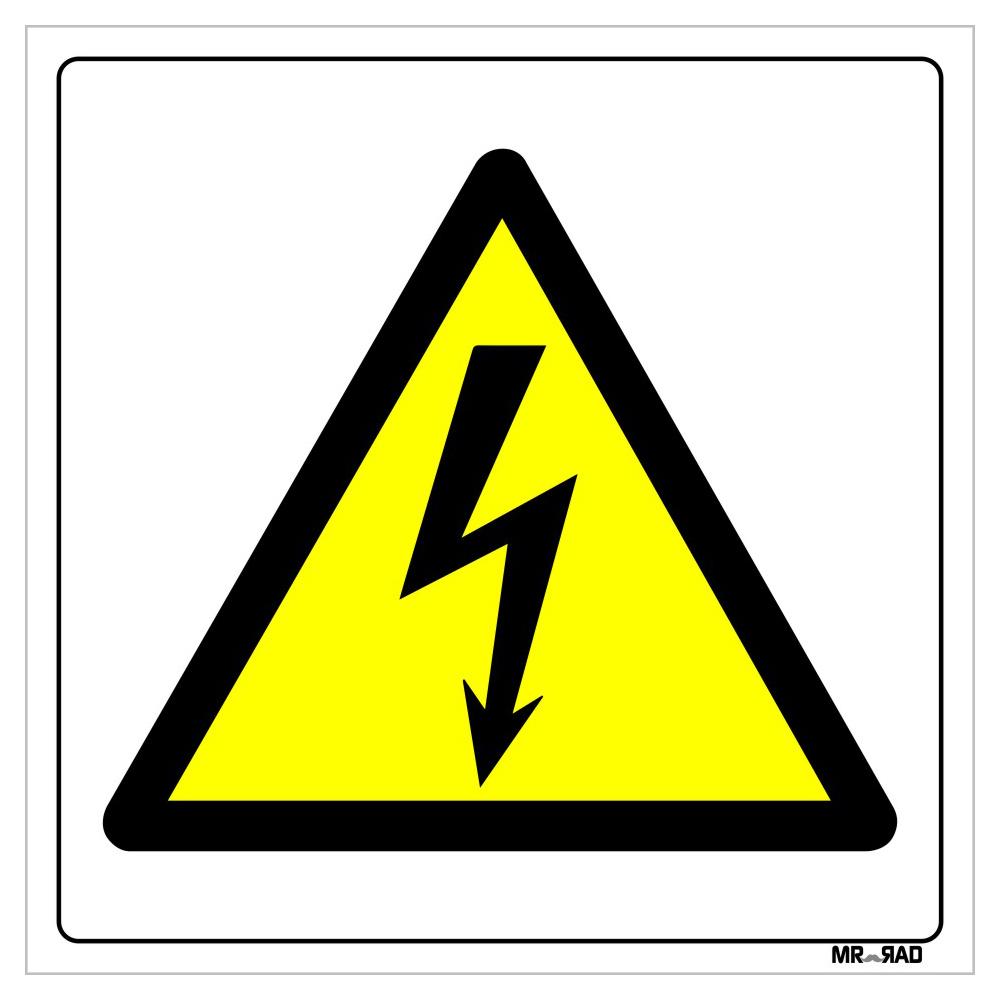 برچسب ایمنی FG طرح خطر برق گرفتگی کد LY00142 بسته دو عددی