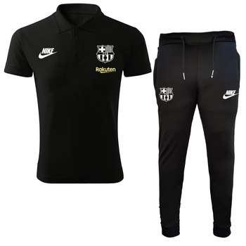 ست پولوشرت و شلوار ورزشی مردانه طرح بارسلونا کد 1132