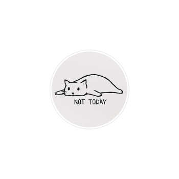 استیکر لپ تاپ ماسا دیزاین طرح گربه خسته مدل STK162