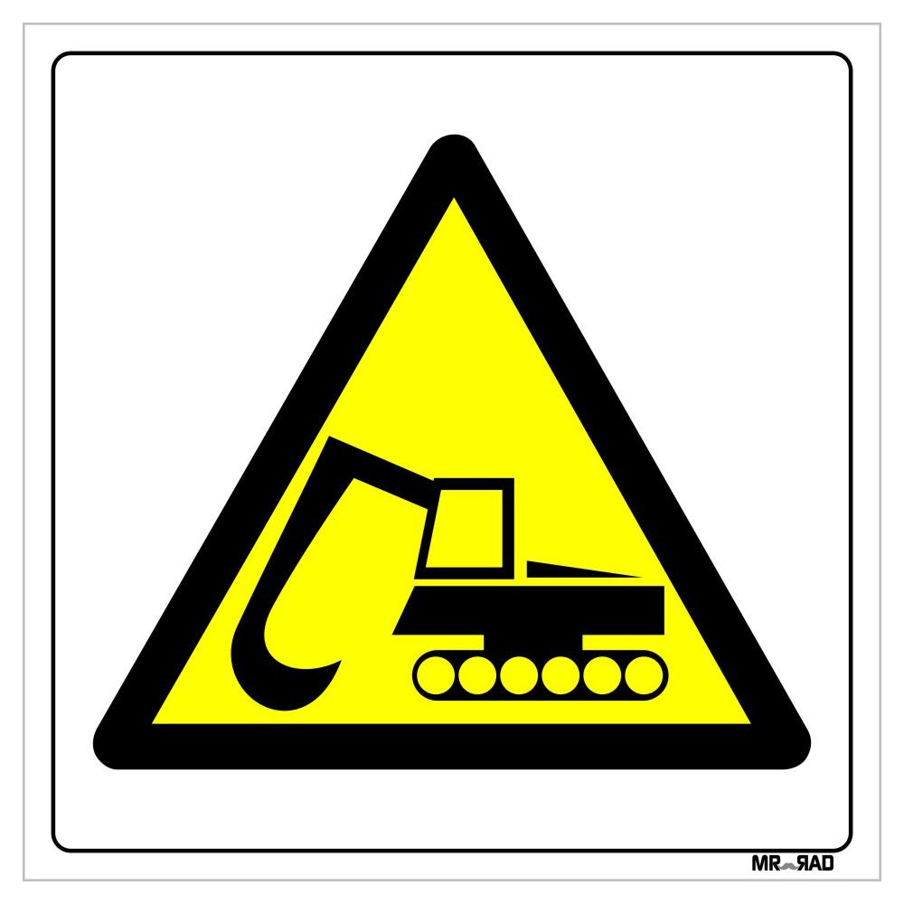 برچسب ایمنی FG طرح خطر عبور بیل مکانیکی کد LY00199 بسته دو عددی