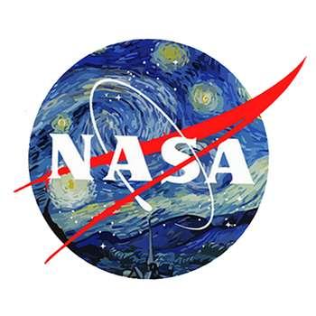 استیکر لپ تاپ طرح ناسا کد 21