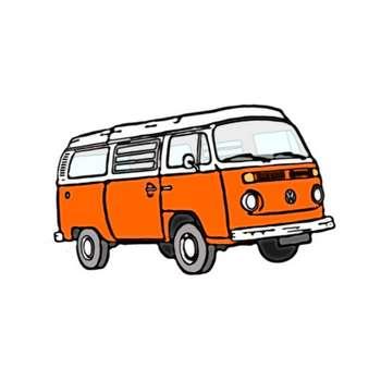 استیکر لپ تاپ طرح ون نارنجی کد 33