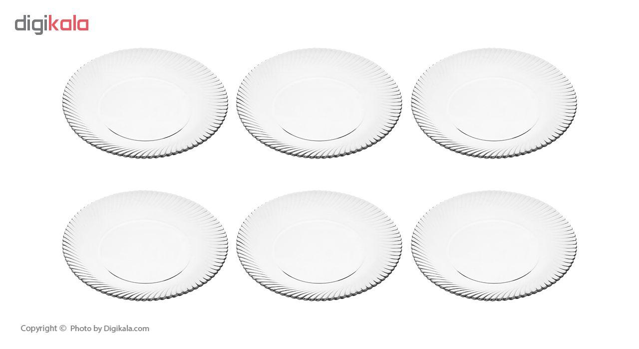 بشقاب غذاخوری نوری تازه سری دیاموند مدل 401022T بسته 6 عددی