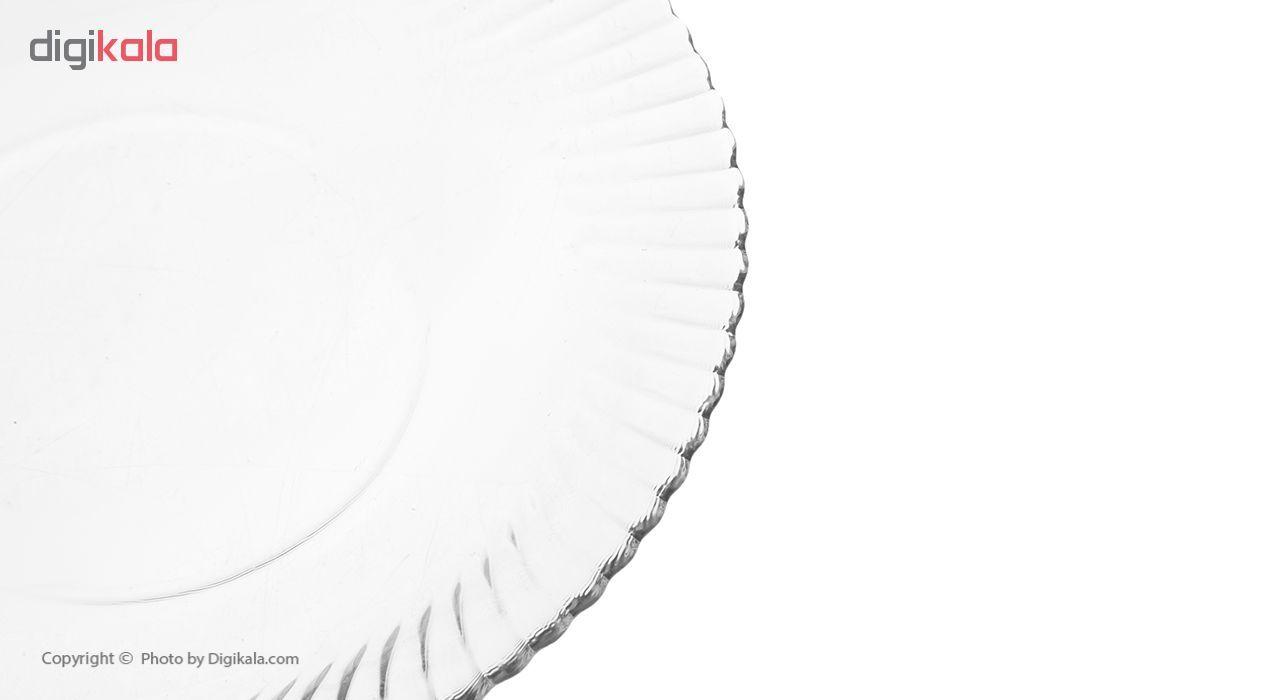 بشقاب خورش خوری نوری تازه سری دیاموند مدل 401012T بسته 6 عددی main 1 4