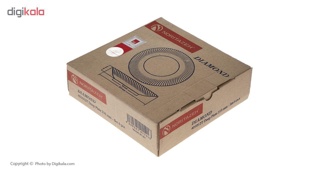 بشقاب خورش خوری نوری تازه سری دیاموند مدل 401012T بسته 6 عددی main 1 6