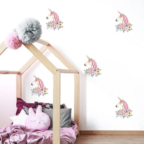استیکر اتاق کودک مدل unicorn 01 بسته 12عددی