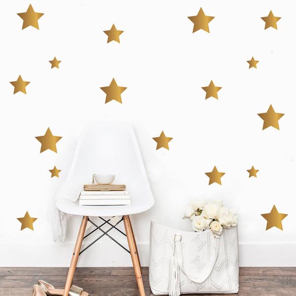 استیکر اتاق کودک مدل star بسته 48 عددی
