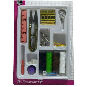 جعبه لوازم خیاطی مدل HsewingKit مجموعه 40 عددی