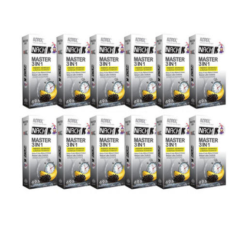 کاندوم ناچ کدکس مدل master مجموعه 12 عددی