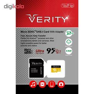 کارت حافظه microSDHC وریتی مدل FHV10 کلاس 10 استاندارد UHS-I U1 سرعت 95MB/s ظرفیت 32 گیگابایت به ه