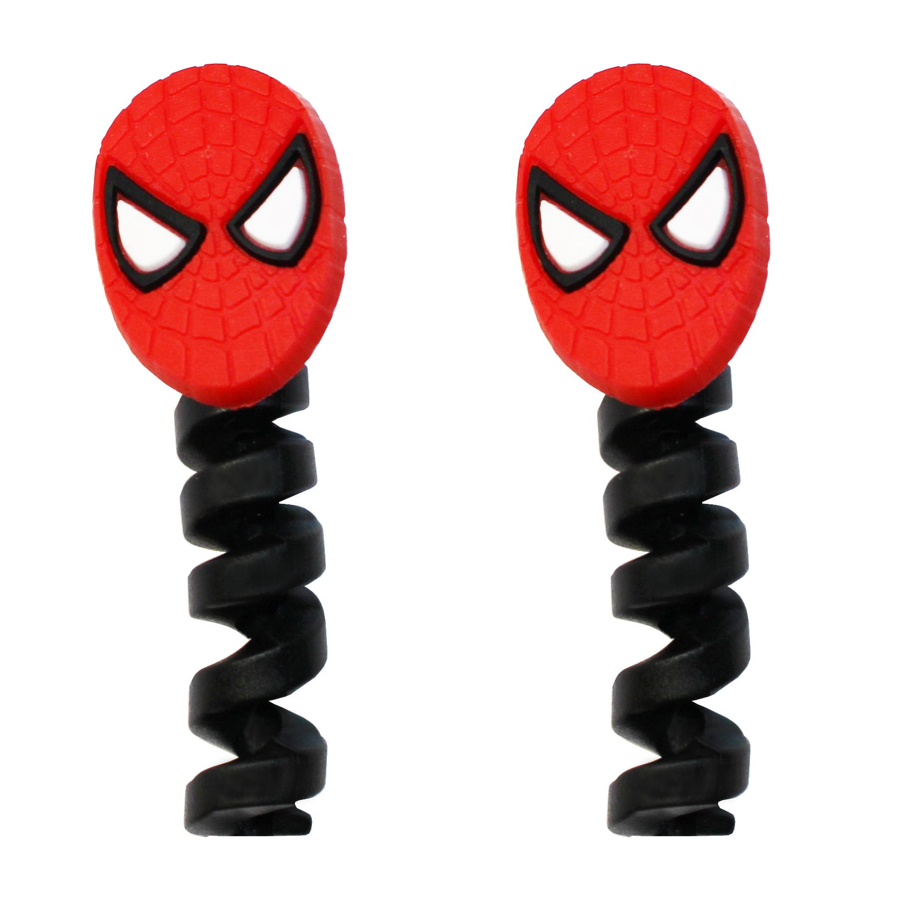 محافظ کابل طرح Spider Man کد 1101 بسته 2 عددی
