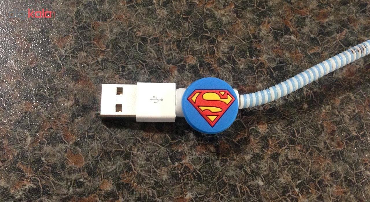 محافظ کابل طرح Super Man کد 3305 بسته 2 عددی main 1 2
