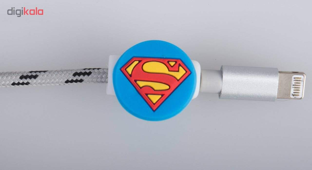 محافظ کابل طرح Super Man کد 3305 بسته 2 عددی main 1 3