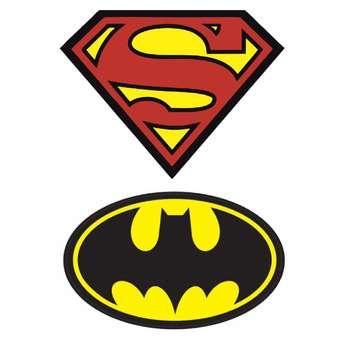 استیکر لپ تاپ طرح سوپرمن و بتمن کد 32 مجموعه 2 عددی