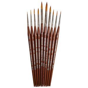 قلم مو گرد خرم کد 555 مجموعه 10 عددی