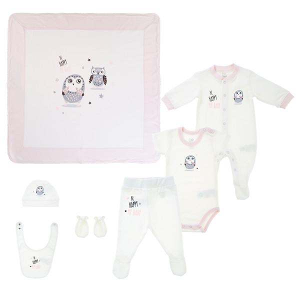 ست 7 تکه نوزادی دخترانه جیکل مدل  JK907101-11-50
