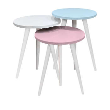 میز عسلی مدل رز کد 01 مجموعه 3 عددی