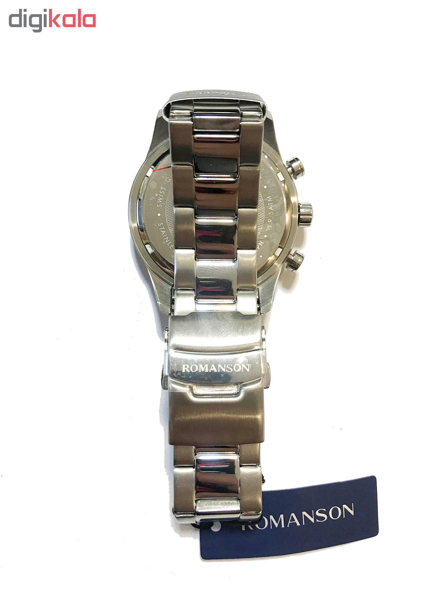کد تخفیف                                      ساعت مچی عقربه ای مردانه رومانسون مدل TM8A12HMWWASR5