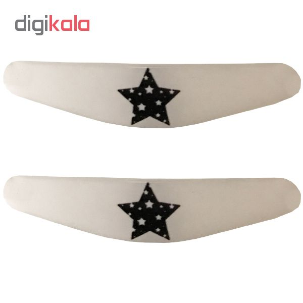 خرید اینترنتی برچسب لایت بار دسته پلی استیشن 4 طرح ستاره بسته 2 عددی اورجینال