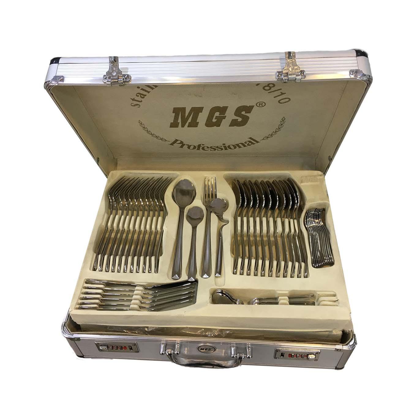 سرویس قاشق و چنگال 125 پارچه ام جی اس مدل weser18