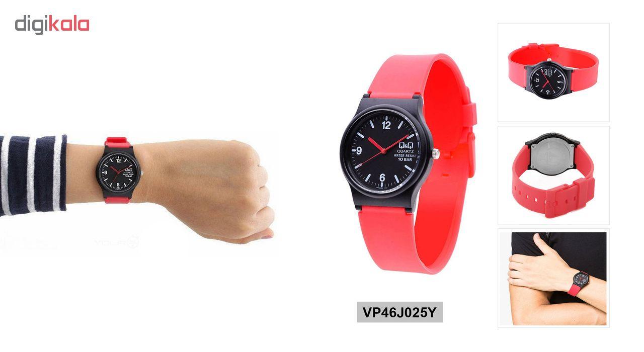 ساعت مچی عقربه ای زنانه کیو اند کیو کد vp46j025y              ارزان
