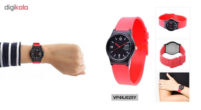 ساعت مچی عقربه ای زنانه کیو اند کیو کد vp46j025y