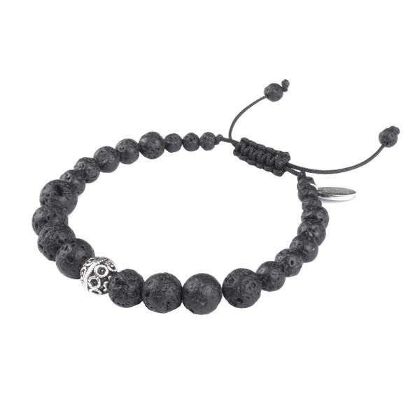 دستبند نقره مردانه درگون جولری مدل MA10