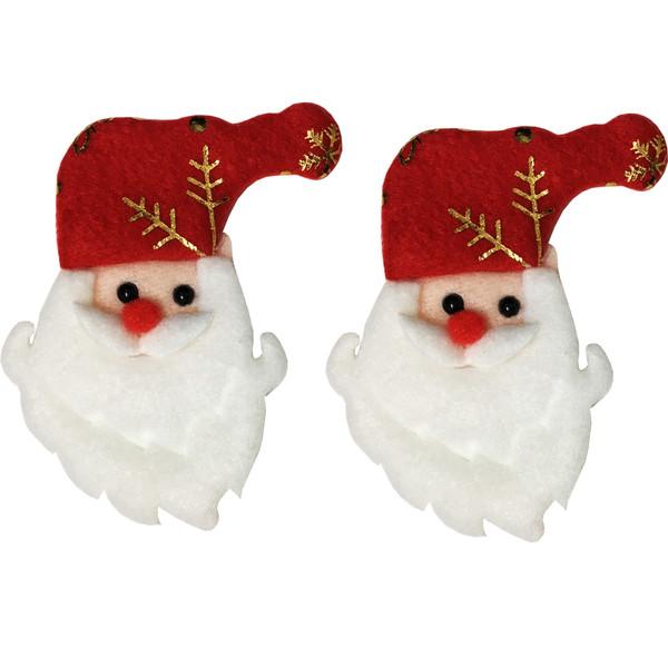 گیره مو مدل بابانوئل بسته 2 عددی
