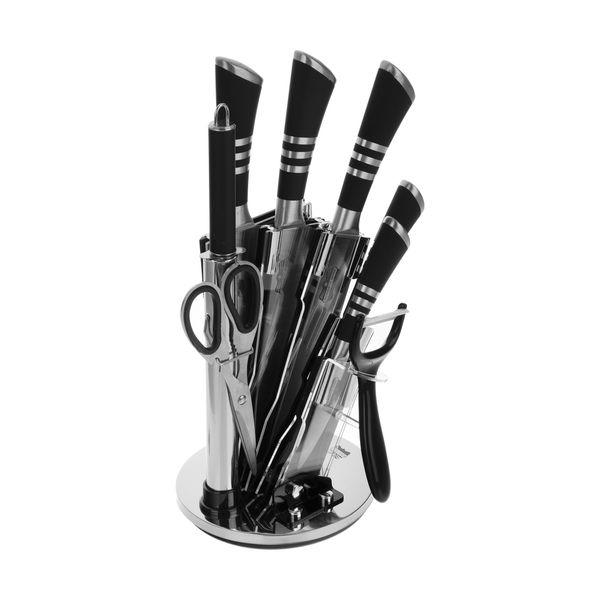 سرویس چاقو آشپزخانه 9 پارچه رومانتیک هوم مدل KH-03