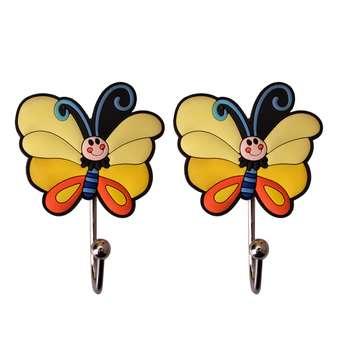 آویز حوله طرح پروانه بسته 2 عددی