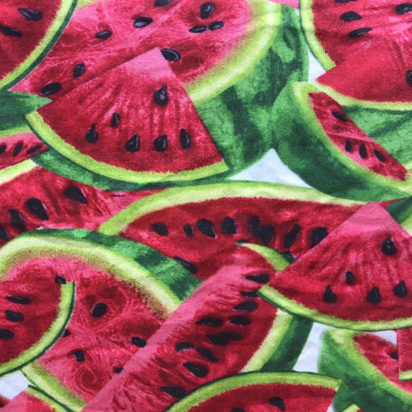 پارچه لباسی طرح هندوانه کد 1112