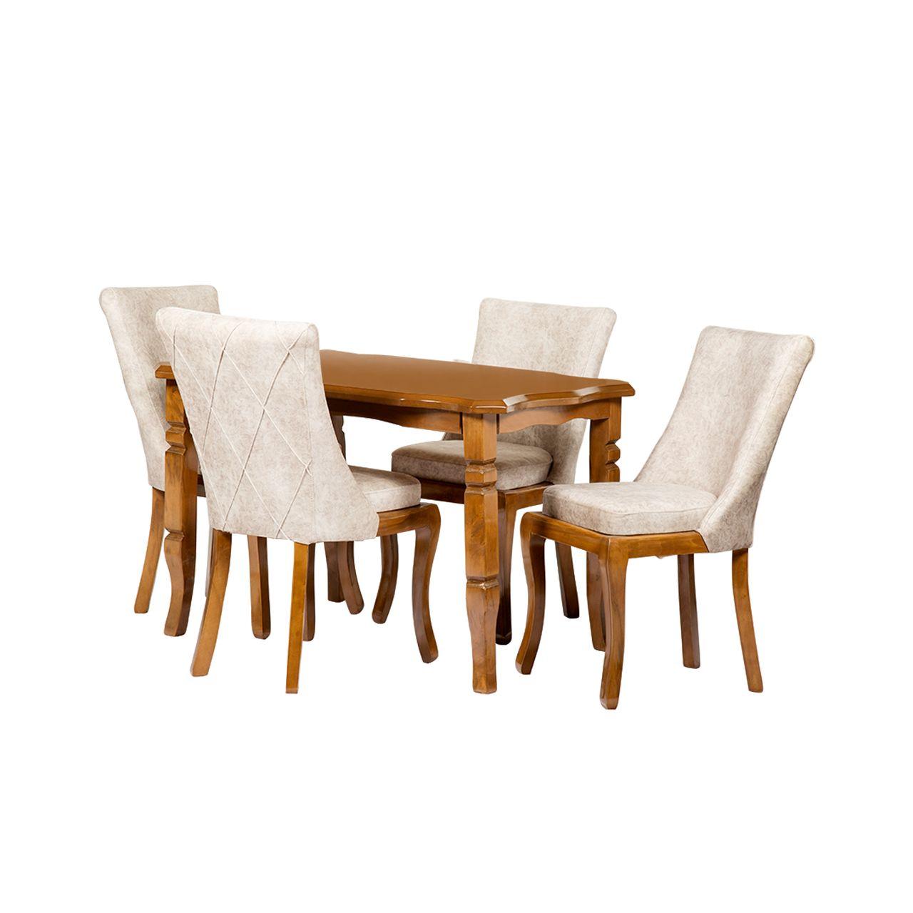 میز و صندلی ناهارخوری مدل رسوینا کد 090