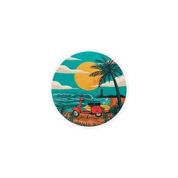 استیکر لپ تاپ ماسا دیزاین طرح هاوایی مدل STK240
