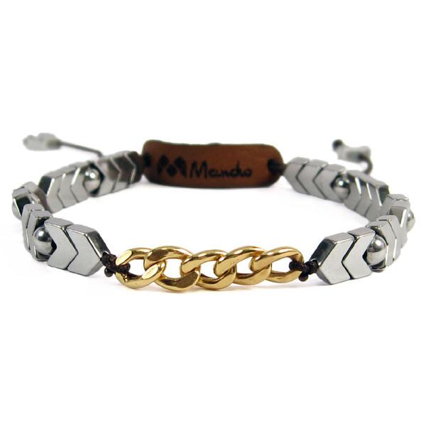 دستبند طلا 18 عیار زنانه مانچو کد bfg130