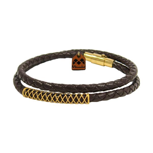 دستبند طلا 18 عیار زنانه مانچو کد bfg150