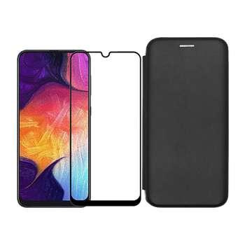 کیف کلاسوری مسیر مدل MMGNT-MGF-1 مناسب برای گوشی موبایل سامسونگ Galaxy A20s به همراه محافظ صفحه نمایش
