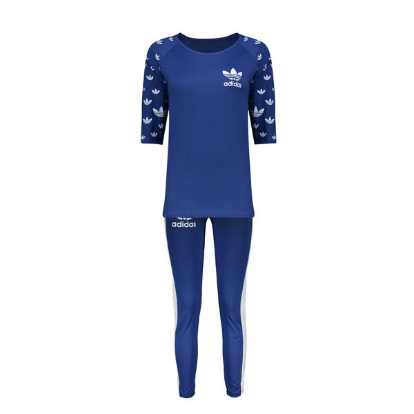 ست تی شرت و شلوار ورزشی زنانه کد 11