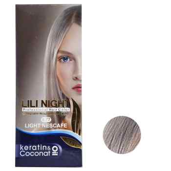 کیت رنگ مو لی لی نایت شماره 9.77 حجم 120 میلی لیتر رنگ نسکافه ای روشن