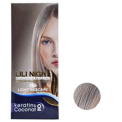 Photo of کیت رنگ مو لی لی نایت شماره 9.77 حجم 120 میلی لیتر رنگ نسکافه ای روشن