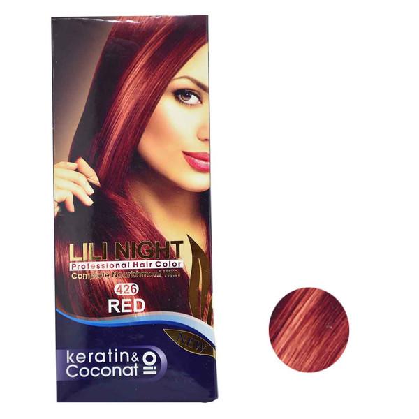 کیت رنگ مو لی لی نایت شماره 426 حجم 120 میلی لیتر رنگ قرمز