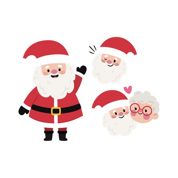 استیکر لپ تاپ طرح بابانوئل کریسمس کد ۰۱ مجموعه ۳ عددی