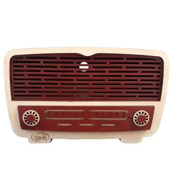 جعبه دستمال کاغذی چوبینه طرح رادیو قدیمی