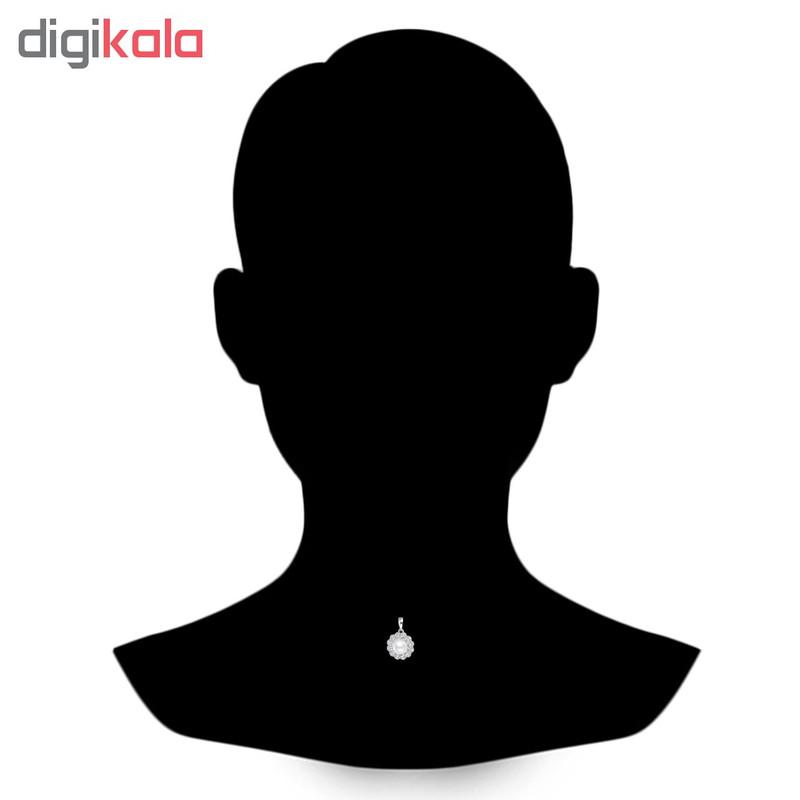 آویز گردنبند نقره زنانه اقلیمه کد VN426