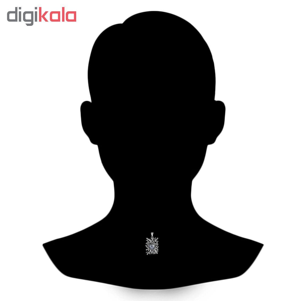 آویز گردنبند نقره زنانه اقلیمه کد VN427 -  - 3