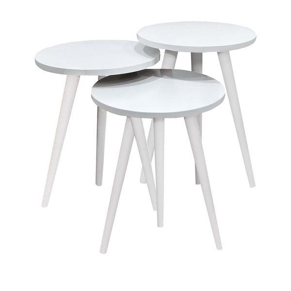 میز عسلی مدل 456 کد 02 مجموعه 3 عددی
